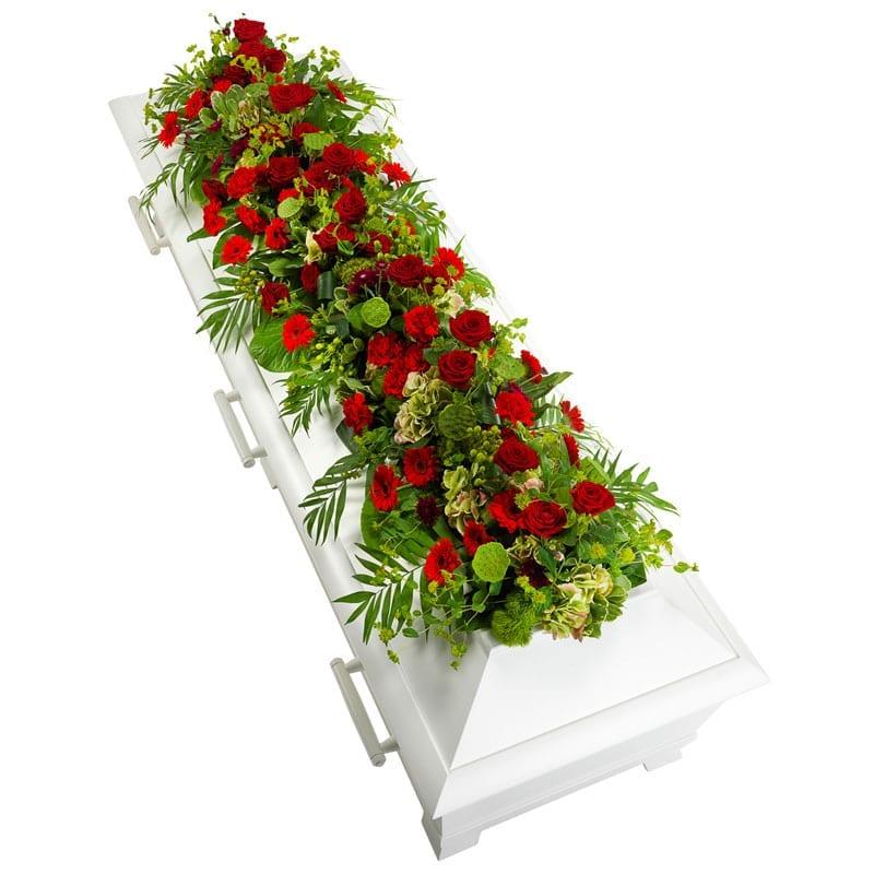 Kistdecoratie in rood en groen