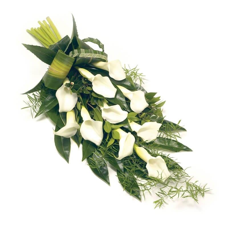 Rouwboeket Calla lelies