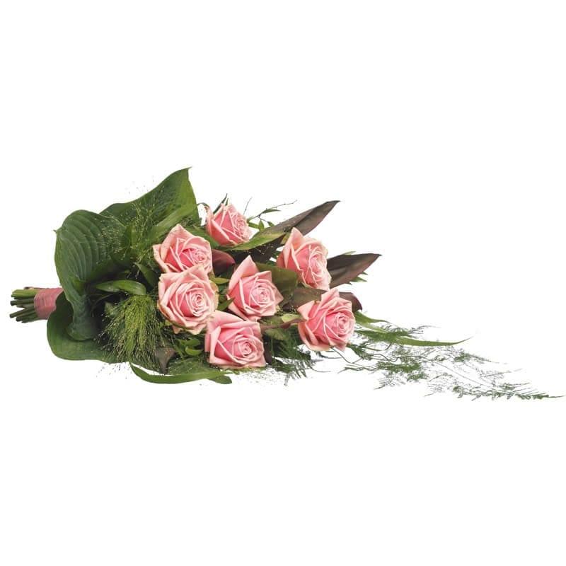 Rouwboeket roze