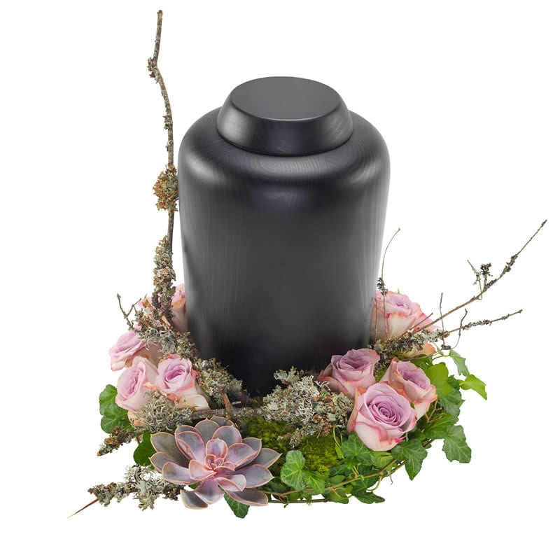 Urn arrangement lila